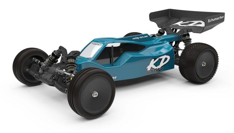 Schumacher Cougar KD - kifejezetten földes pályákhoz való 1/10-es elektromos buggy modellautó
