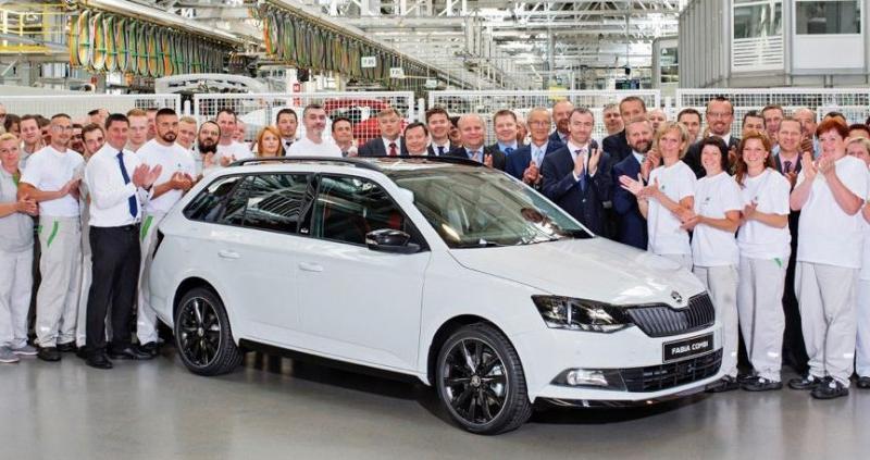 A Škoda a négymilliomodik Fabiát ünnepli