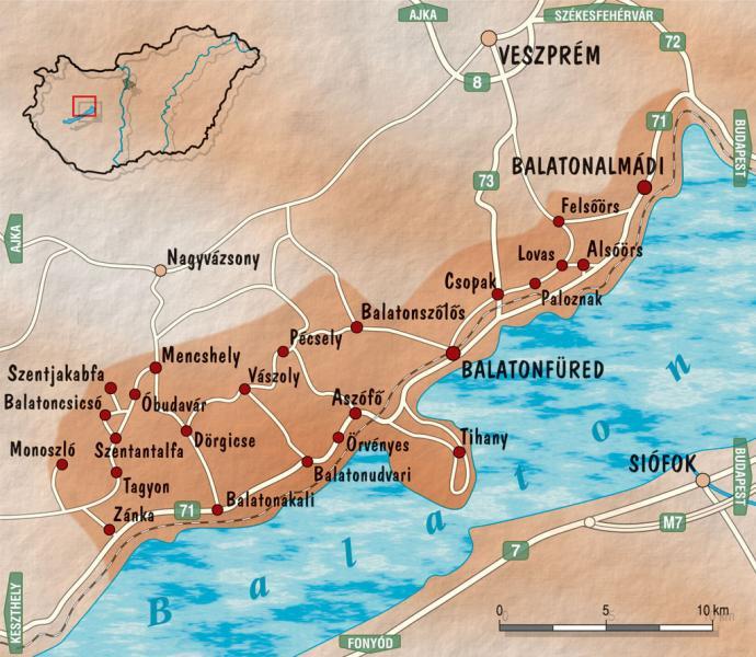 balaton térkép csopak A Balatonfüred Csopaki borvidék | Autoszektor balaton térkép csopak