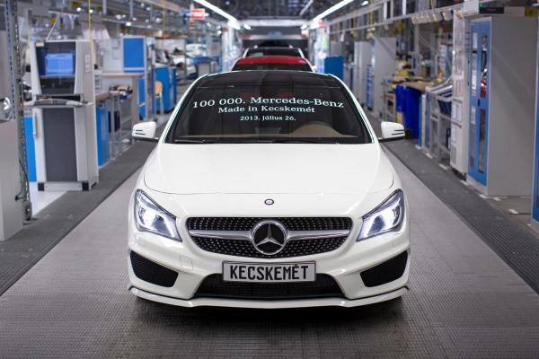 Mercedes gyár leállás