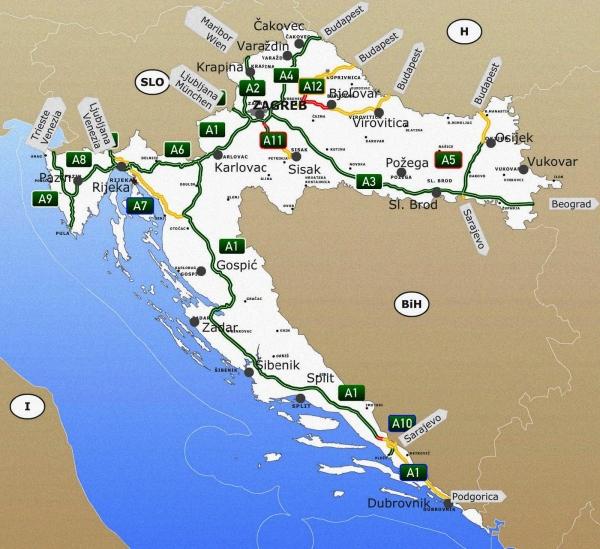 A 2020-as autópályadíjak Horvátországban